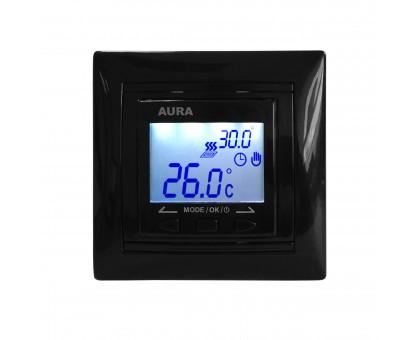 AURA LTC 090 BLACK - программируемый терморегулятор для теплого пола