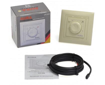 AURA LTC 030 IVORY - простой кремовый терморегулятор для теплого пола