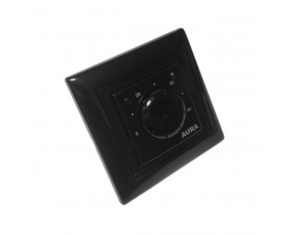 AURA LTC 030 BLACK - простой терморегулятор для теплого пола