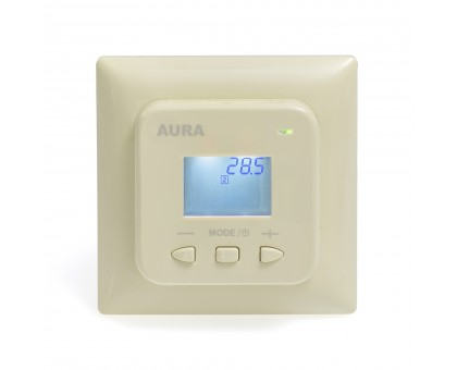 AURA LTC 440 IVORY - двухзонный терморегулятор для теплого пола