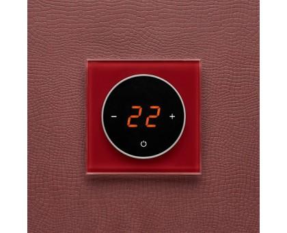 AURA TAKTO 3004 RED DARK - терморегулятор с сенсорным экраном